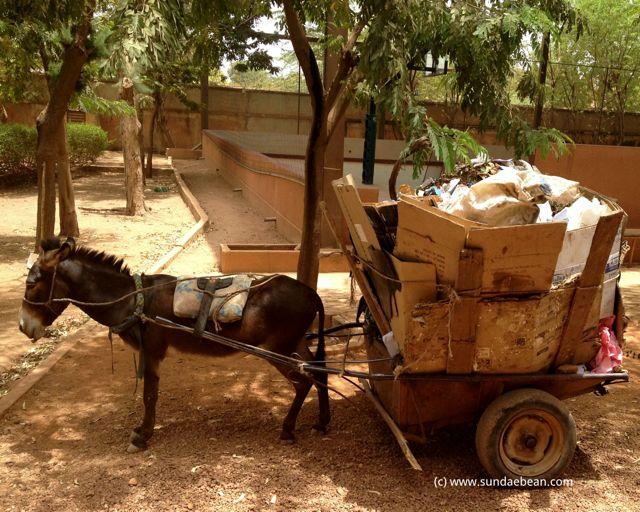 Garbage removal system in Ouagadougou, Burkina Faso